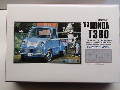 "Kit No 22 Practical Arii 1:32 Scale ""owners Club"" '63 Honda T360 Model Kit New"