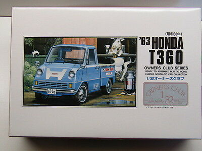 "New Kit No 22 Practical Arii 1:32 Scale ""owners Club"" '63 Honda T360 Model Kit"