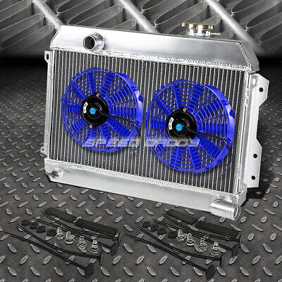 3-ROW FULL ALUMINUM RADIATOR+BLUE FAN FOR 68-73 DATSUN 510 SRL311//521 PICKUP 1.6
