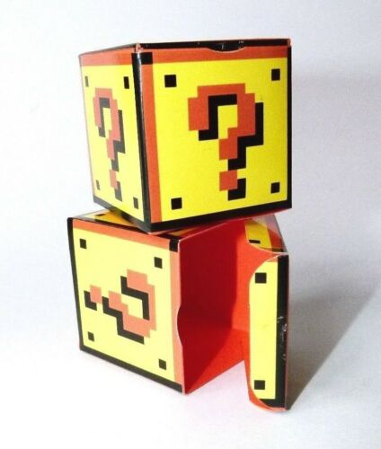 Funky Wedding Confetti//Favour Box Block Super Mario Question Mark Block