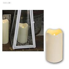 LED Kerze 18cm für Außen/Outdoor-Kerzen Ø10cm flammenlos flackernde candle Timer