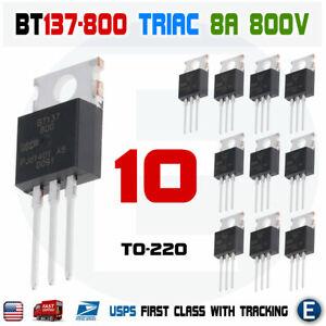 from USA /' BT136-800E 10 pcs 800V 4A TO-220 TRIAC