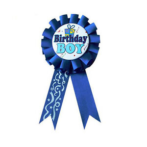 Birthday Boy Birthday Childrens Girl Badge Ribbon Rosette Pink Blue Uk Stock Ebay