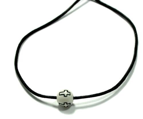 10mm //Kinder// Baby// Taufe// Geburt//Kirche Kreuz-Perlen in Schwarz//Weiß ca