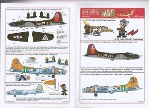 Kits World B-17 F/G Flying Fortress Decals 1/48 087, 2 Options, Fuddy Duddy DO
