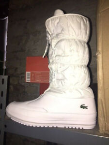 a35c958868be Womens Lacoste TUILERIE PS SPW White Weiß Lt Grey Stiefel Ski Winter ...