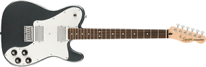 Fender Squier Affinity Telecaster Deluxe Electric Guitar,Charcoal Frost Metallic