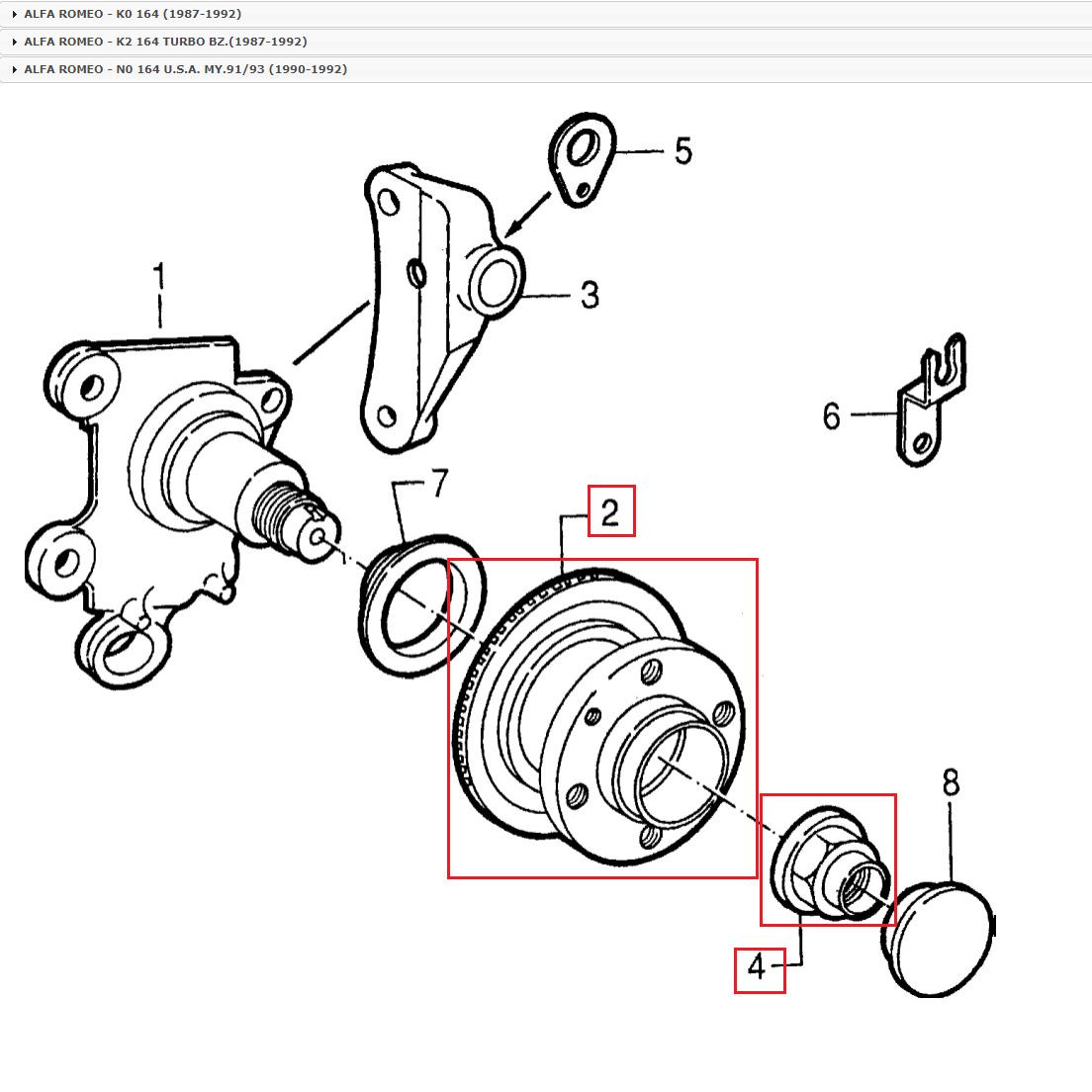 Alfa Romeo 164 Wiring Diagram