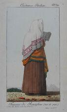 Femme de Ronciglione. Altkolor. Kupferradierung. Paris, Martinet um 1815