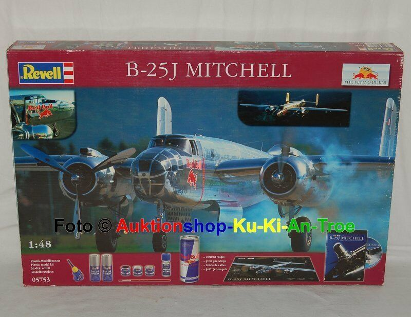 Revell 05753 rot Bull Kit - North American B-25 J Mitchell - Bausatz 1 48 in OVP  | Online Store