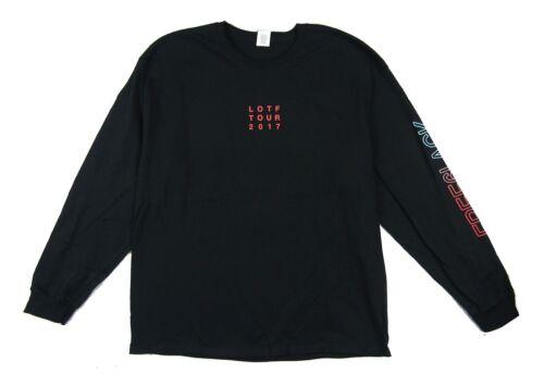 6lack LOTF Tour 2017 Black Long Sleeve T Shirt New Official Adult