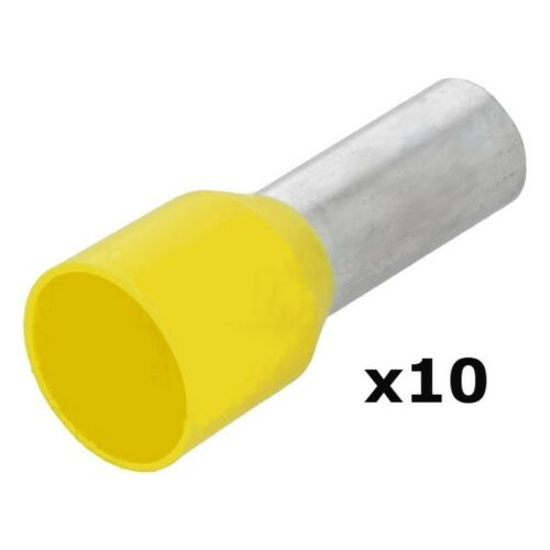 Virola 25 mm Amarillo 16 mm de largo lazada Virola aislado Qty = 10 000195