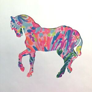 New-Horse-pillow-made-with-LILLY-PULITZER-Fan-Sea-Pants-fabric