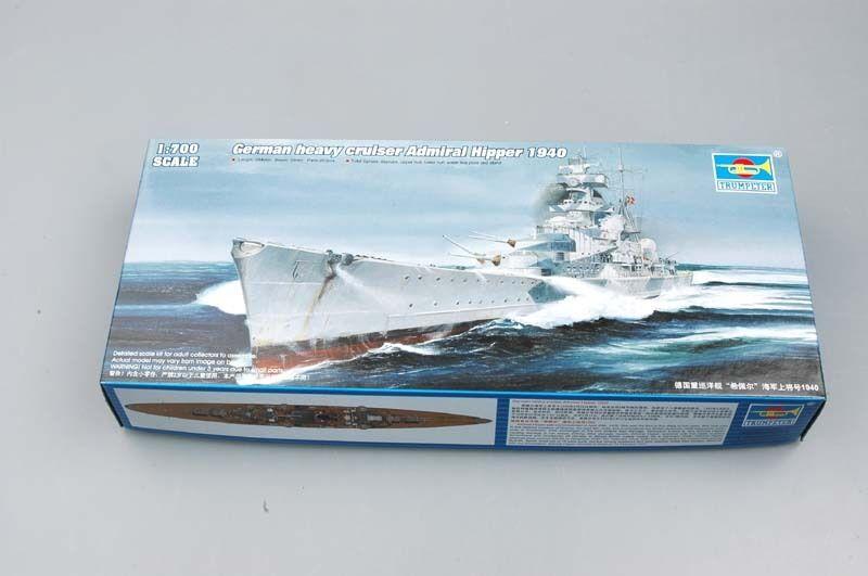 Trumpeter - Alemán Crucero Admiral Hipper Modelo Equipo de Construcción 1 700