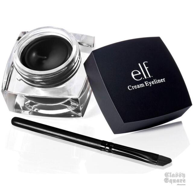 NEW E.L.F. Studio CREAM EYELINER Black Liner Blush Brush ELF Cosmetic Makeup