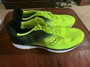 2fa100f870c81 Details about New Men's Saucony M Breakthru 4 Running Shoe Citron Black  Size 15