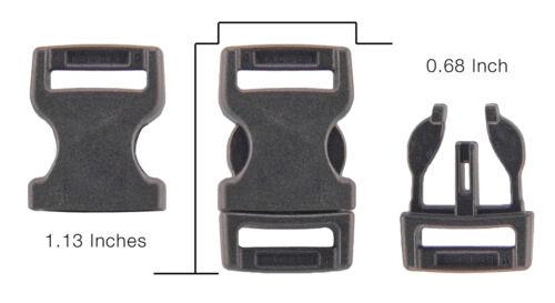 10-1//2 Inch YKK Flat Side Release Plastic Buckles