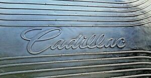 Nos New Oem Gm Cadillac Trunk Mat Cargo Carpet Rubber Logo Ornament Emblem Liner Ebay