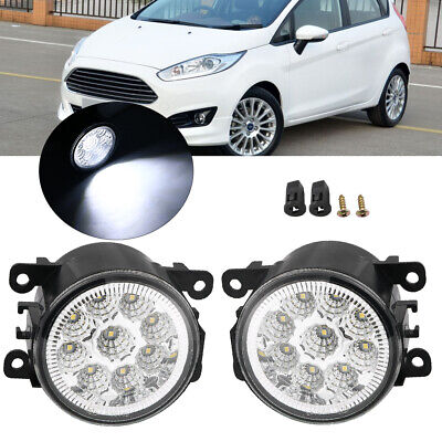 Pair Fog Light For Ford Focus Fusion Explorer Mustang Bumper Lamp With Bulb New