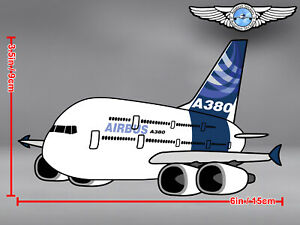 AIRBUS A380 A 380 PUDGY CUT TO SHAPE DECAL / STICKER
