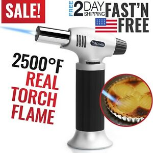 Cooking-Torch-Kitchen-Creme-Brulee-Culinary-Food-Blow-Torch-Chef-Baking-Pastry