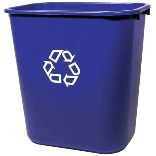 Rubbermaid Blue Recycling Bin 7 Gallon Garbage Recycle Waste Indoor Plastic New