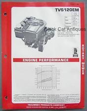 1981 Tecumseh Aluminum Rotary Mower Engine Specs Brochure Model TVS120EM 4.2HP