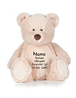 Teddy Bear Cuddle Embroidered Embroidery Individual Christening Birth Washable