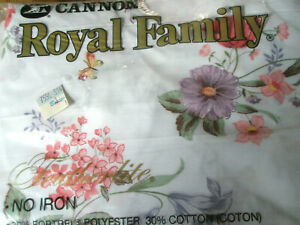 Cannon Royal Family  Floral Vintage Twin Fitted  Green New In Package