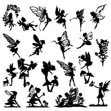 Die Cut Outs Silhouette FAIRIES x 20 & Deer set, card shape scrapbook Fairy jar
