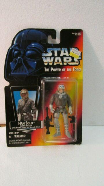 Star Wars Tpotf Han Solo en Hoth Equipo Figura Rojo Tarjeta de Hasbro 1995 t426