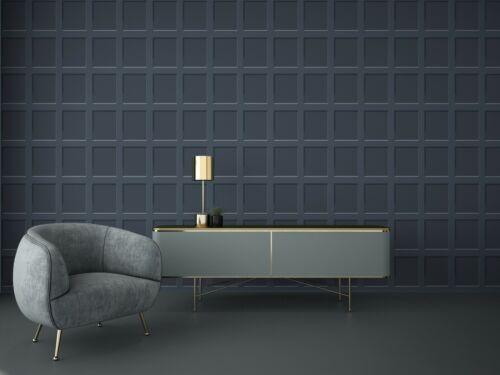 Debona Heritage 3D Effect Blue Wood Panel Wallpaper 6742