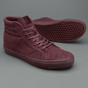 68e57019 Details about Vans SK8 Hi Reissue DX Reptile Burgundy Men's Classic Skate  Shoes Size 8.5
