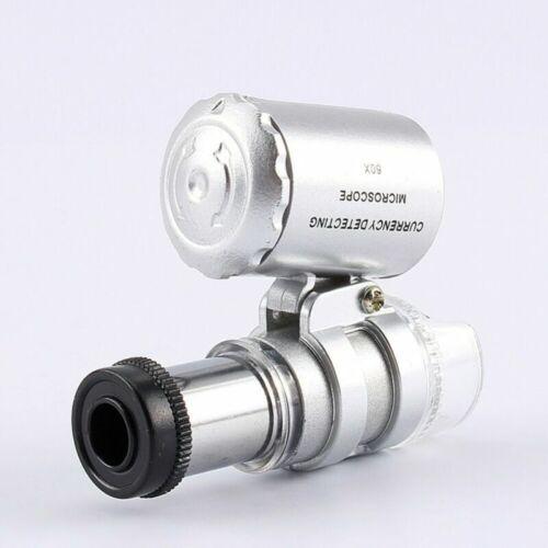 Pocket Magnifier Glass Jeweller LED Magnifying Eye Loupe 5X 6X 10X 30X 60X 90X