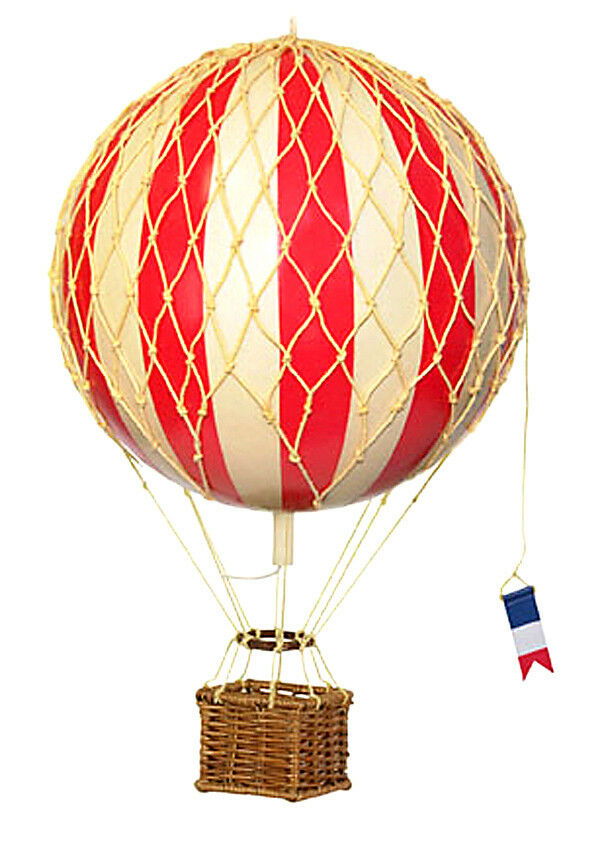Ballon-Modell, Heißluftballon, Hängeballon, Authentic Models, Ø 18 cm, red