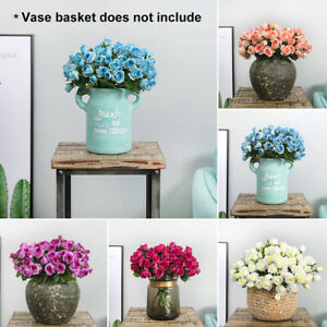 Am-KF-1Pc-15-Head-Artificial-Fake-Rose-Flowers-Wedding-Party-Office-Decoration