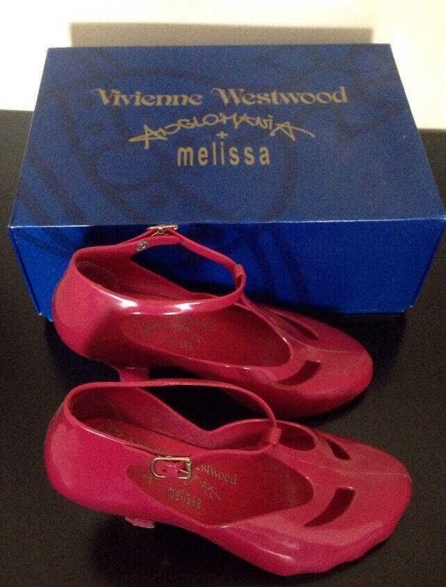 Vivienne westwood melissa mary jane t bar shoes Pink uk 4 37