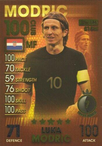 Match Attax 101 2019 Luka Modric 100 cents CLUB Nº 186 Comme neuf