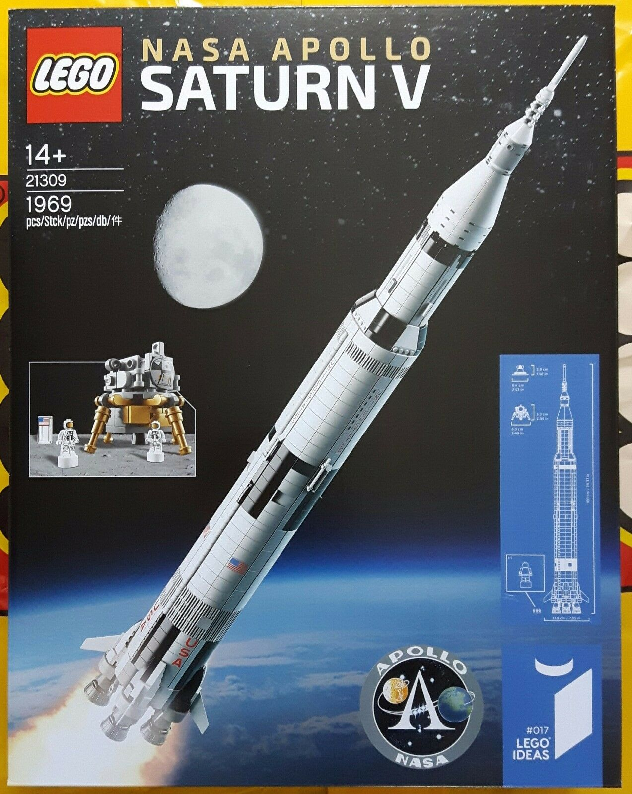 LEGO ® ideas 21309 Nasa Apollo Saturn V (5) NUOVO & OVP NEW AND SEALED 1969 pieces