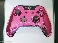 CUSTOM CHROME PINK New Microsoft Xbox One Wireless Controller pack (USA SELLER)
