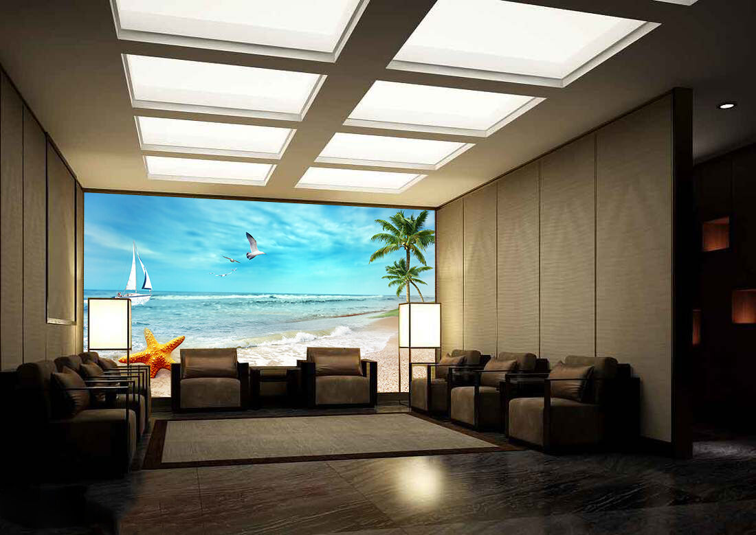 3D Flying Seagulls 48 Wall Paper Wall Print Decal Wall Deco Indoor AJ Wall Paper