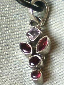 Colgante-de-plata-esterlina-1-034-con-AMATISTA-amp-Granate-stoneson-un-tanga-18-034-10-95-Nuevo-con