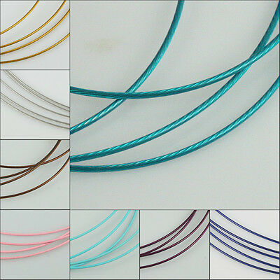 Pick  Multi-colors stainless steel wire 1mm for Necklace making DIY