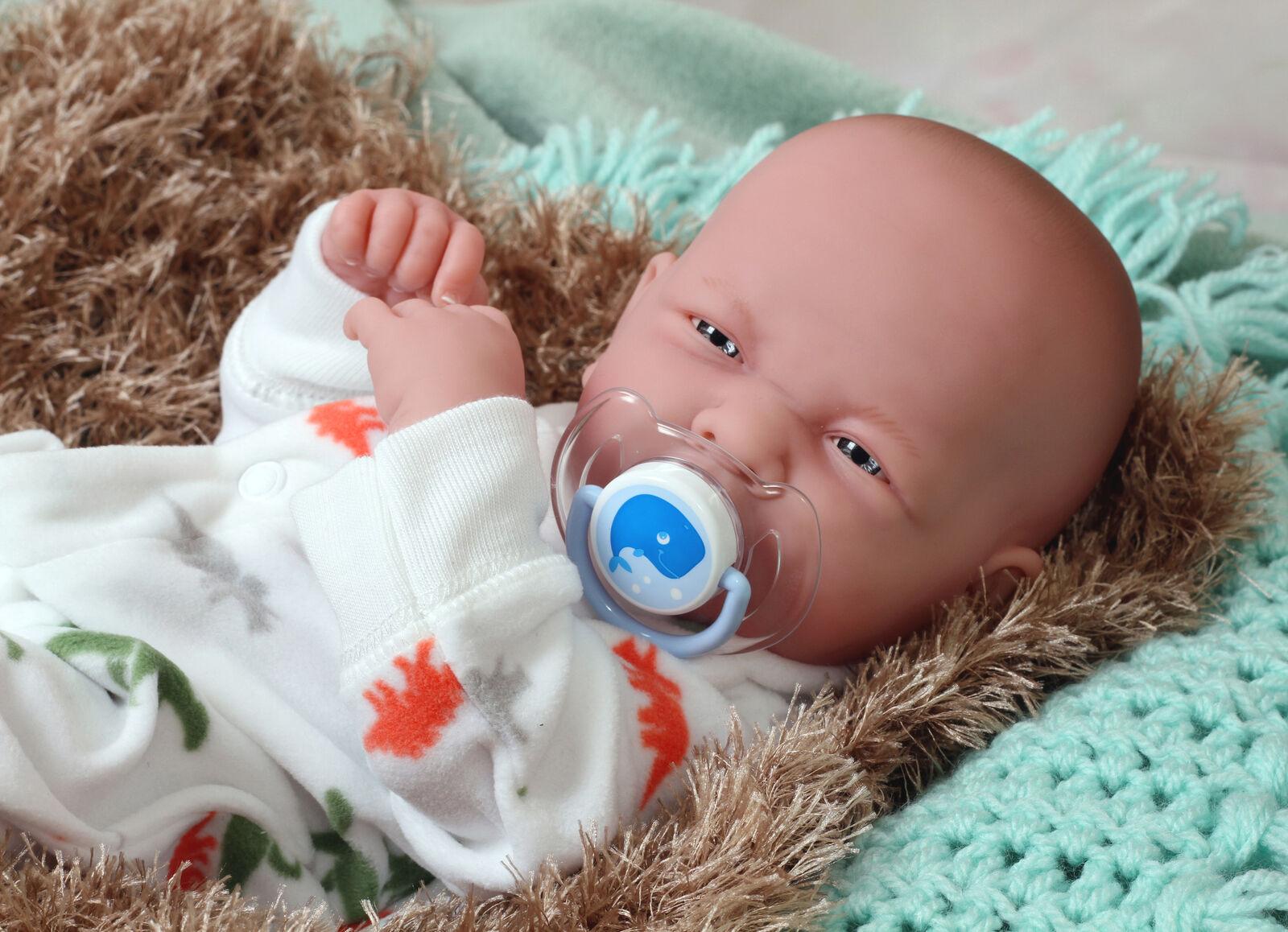 14  REAL muñeca bebé NIÑO REBORN cuerpo completo de vinilo de Silicona Hecho a Mano Juguetes realista