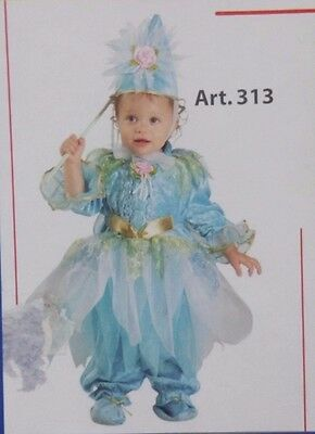 Vestito Costume Carnevale Baby Fatina Azzurra 12 18 Mesi 1 2 Anni Buona Conservazione Del Calore