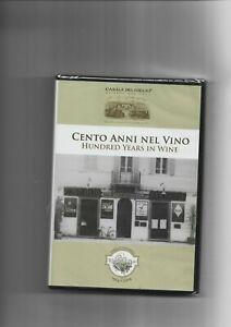 """VINO, VITICOLTURA - DVD """" 100 ANNI NEL VINO"""" DVD NUOVO SIGILLATO"""
