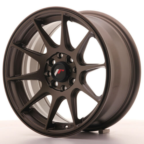 "Un Cerchio in Lega Japan Racing JR11 15/"" x 7/"" ET 30 4 x 100 114 Bronzo bronze"