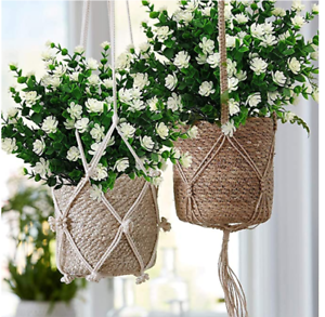 6 Bundles Outdoor Artificial Flowers Uv Resistant Fake Boxwood Hanging Plants Ebay