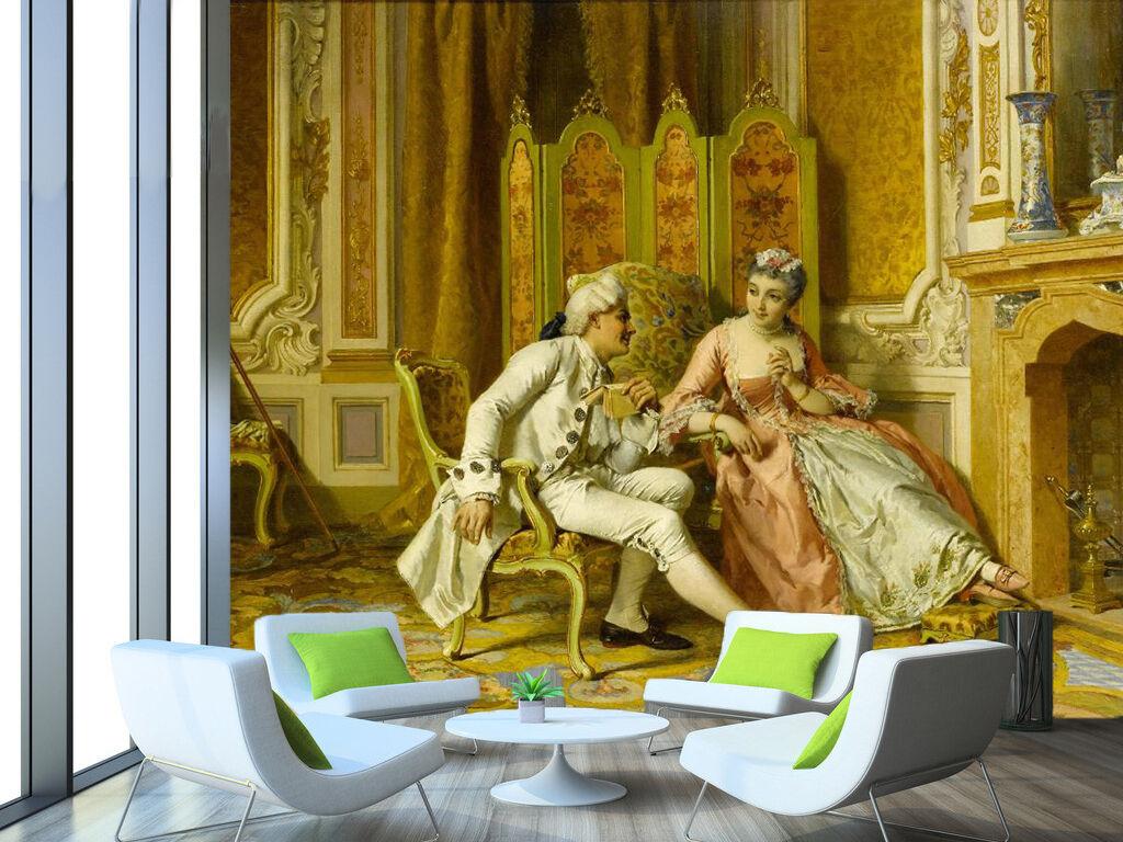 3D Bavarder 124 Photo Papier Peint en Autocollant Murale Plafond Chambre Art