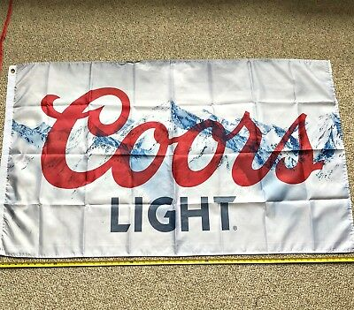 Coors Light FREE SHIPPING Flag 3x5 Foot Banner Poster Brand New